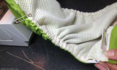 Replacing the elastics in your cloth diapers - a tutorial from Diaper Wrecker.