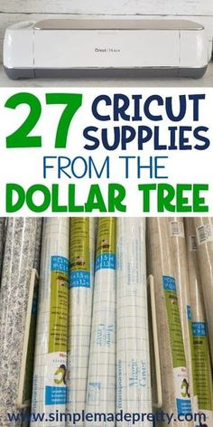 27 Cricut Craft Supplies From The Dollar Tree - Simple Made Pretty One question I'm frequently asked is where can I buy Cricut supplies? You'll find my favorite Cricut Craft Supplies from the Dollar Tree in this list! Cricut Ideas, Cricut Tutorials, Cricut Project Ideas, Cricut Vinyl Projects, Cricut Explore Projects, Cricut Explore Air 1, Creative Crafts, Fun Crafts, Preschool Crafts