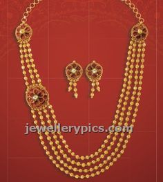 jewellery design pictures: Gold Gundla mala from Damas