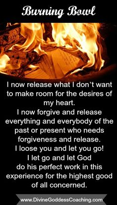 Click here to learn more about the 2014 Burning Bowl Affirmation - www.DivineGoddessCoaching.com