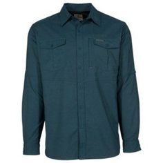Ascend Highest Peak Woven Long-Sleeve Shirt for Men - Blue Wing Teal - XL