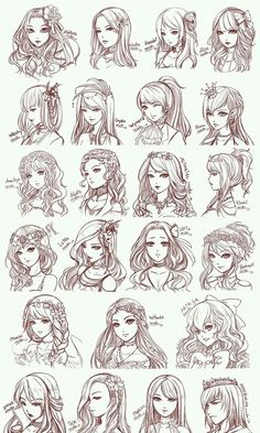 anime, hair, and draw image