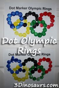 Dot Olympic Rings - Kids Art for an Olympic Celebration or Party Kids Olympics, Winter Olympics, Special Olympics, Olympic Idea, Olympic Games, Olympic Gymnastics, Olympic Crafts, Art For Kids, Crafts For Kids