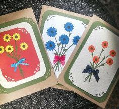 I love the idea of giving a bouquet to someone on a card! so cute!