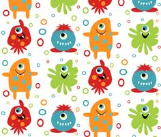 Monster fabric fabric by tracydw70 for sale on Spoonflower - custom fabric, wallpaper and wall decals