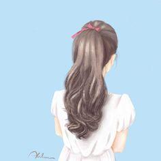 Photo by Ahlam on July Girly Drawings, Anime Girl Drawings, Anime Art Girl, Pretty Anime Girl, Beautiful Anime Girl, Lovely Girl Image, Girls Image, Cover Wattpad, Cute Girl Drawing