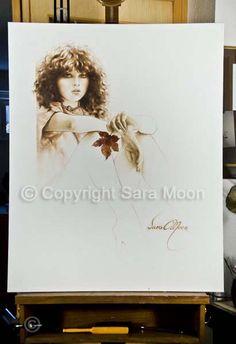 Original Sara Moon Artwork For Sale Moon Painting, Painting & Drawing, Canvas Size, Oil On Canvas, More Wallpaper, Sign Printing, Moon Art, Filet Crochet, Original Artwork