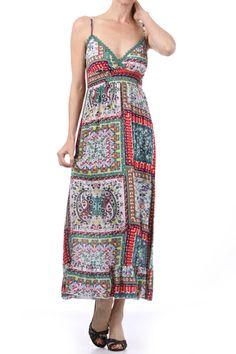 Printed maxi dress http://enewwholesale.com/womens-dresses/
