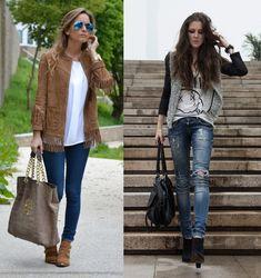 De básico à casual chique – Peças adicionais, sobreposições jaqueta e colete