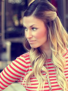 brown fade to blonde, I could do this...but not sure I like it