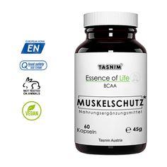 Die pflanzlichen Essence of Life BCAA-Kapseln von Tasnim werden in hochmodernen Verfahren wie der Fermentation hergestellt Der Vorteil ist ein höherer Gewinn an Tripeptiden, die sich aus Leucin, L-Valin und L-Isoleucin zusammen setzen. Die leistungsfördernden Wirkungen von BCAAs machen sich immer mehr Menschen zu Nutze. Die verzweigtkettigen Aminosäuren bieten vielseitige Vorteile und sind sowohl in der Muskelaufbauphase, als auch in der Diät hilfreich. Vitamin B Komplex, Animal Testing, Vegan, Food, Products, Boswellia Serrata, Coenzym Q10, Okinawa Japan, Crates