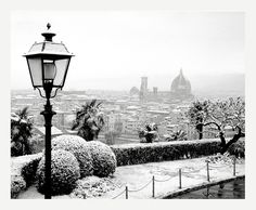 Florence, Italy under the Snow