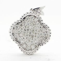Catawiki online auction house: White gold pendant with 0.46 ct. of diamond