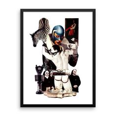 A COUPEZ ICI statement in any room with this framed poster printed on high quality paper, with a partly glossy, partly matte finish. Artist Art, Batman, Superhero, Paper, Fictional Characters, Image, Fantasy Characters