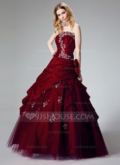 Quinceanera Dresses - $192.99 - Ball-Gown Strapless Floor-Length Taffeta Quinceanera Dress With Ruffle Lace Beading Flower(s) Sequins (021002909) http://jjshouse.com/Ball-Gown-Strapless-Floor-Length-Taffeta-Quinceanera-Dress-With-Ruffle-Lace-Beading-Flower-S-Sequins-021002909-g2909/?utm_source=crtrem&utm_campaign=crtrem_US_28010