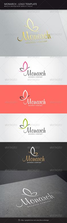 Monarch Logo Template Vector EPS, AI Illustrator. Download here: https://graphicriver.net/item/monarch-logo/8524630?ref=ksioks