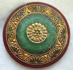 Czech Glass Button