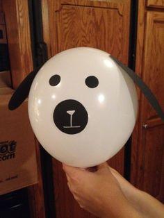 Dog Balloon Invitation