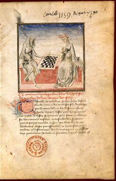 Les échecs moralisés  Jacques de Cessoles, Le Livre des échecs moralisés. Traduction française de Jean de Vignay. BNF, Manuscrits (fr. 1172 f° 1)