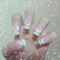 Nails hello kitty ♡ and like OMG! get some yourself some pawtastic adorable cat appare