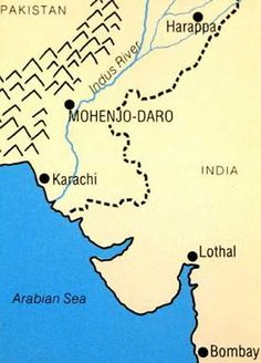 Ancient India Map Harappa.Harappa And Mohenjo Daro Map Of The Indus River Civilizations