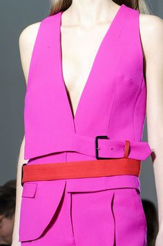 Costume National ss2013  not the colors, but the part suit, part halter asymmetry silliness.
