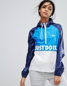 Buy Nike Hooded Just Do It Packable Jacket at ASOS. With free delivery and return options (Ts&Cs apply), online shopping has never been so easy. Latest Outfits, Latest Fashion Clothes, Fashion Online, Women's Fashion, Streetwear Mode, Streetwear Fashion, Nylons, Nike Running Jacket, Men's T Shirts