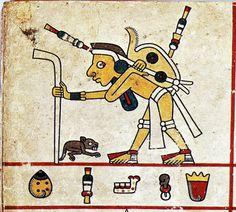 An Aztec pochteca merchant, Codex Fejérváry-Mayer Aztec Costume, Mayan Symbols, Aztec Art, Inca, Art And Architecture, Art Projects, Illustration, Control, Black