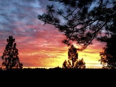 Placerville, CA - Fall sunrise from my deck 2015