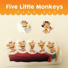 Five Little Monkeys Play Set Activities Five Little Monkeys, Nursery Rhymes, Super Simple, Fun Activities, Games To Play, Learning, Kids, Young Children, Boys