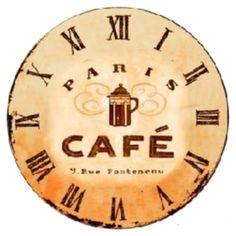 Free Vintage Clock. Home Clock, Diy Clock, Clock Decor, Clock Printable, R Cafe, Love Cafe, Decoupage Printables, Kitchen Wall Clocks, Coffee Corner