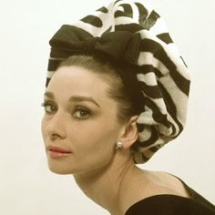 Audrey Hepburn may be the only person to ever elegantly wear a zebra beret. 1964. #VFvintage