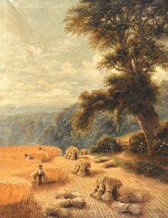 Charles Henry Passey (1818-1895) British. 'A Cornfield, : Lot 2365