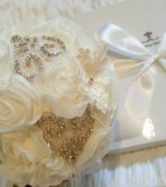 """Helen"" Bridal Wedding Heirloom Bouquet"