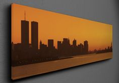 Vászonkép Manhattan látképe New Jersey-ből cm Manhattan Skyline, New Jersey, Canvas Frame, Marvel
