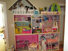 American girl doll crafts | American Girl Doll house, made from Ikea bookshelfs. | crafts