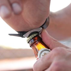 What makes the Happy Hour Watches more than a timepiece is the bottle opener in disguise.