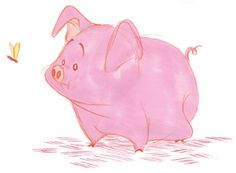 Another one by davidsdoodles Pig Character, Character Design References, Cute Animal Illustration, Nature Illustration, Animal Sketches, Animal Drawings, Barnyard Animals, Cute Animals, Pig Sketch