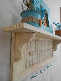 repurposing a shutter in 2 ways, design d cor, repurposing upcycling Repurposed Items, Repurposed Furniture, Painted Furniture, Furniture Projects, Wood Projects, Diy Furniture, Diy Shutters, Repurposed Shutters, Small Shutters