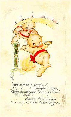 Kewpie Christmas Postcard