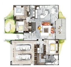 46 Best Floor plan images | Floor plans, How to plan, Rental ... Iamges Presentation House Plans on