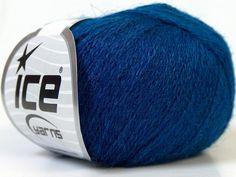 Silk Blue by Ice yarns - silk, mohair, wool.