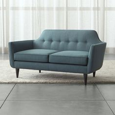 Beautiful couch and loveseat set piece for living room styles. Couch And Loveseat Set, Sofa Couch, Leather Loveseat, Tufted Sofa, Barrel Furniture, Sofa Furniture, Office Furniture, Painted Furniture, Furniture Ideas