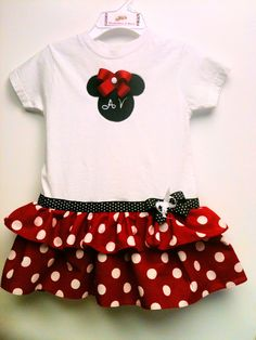 Minnie Mouse Boutique Style Diva DressMinnie by DivababiesAndMore, $28.00