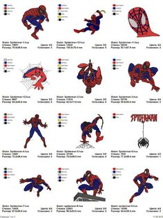 Spiderman, Superman, Batman - 38 embroidery designs - Free Machine Embroidery Designs Download