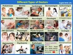 Different Types of #Doctors #learnenglish #englishvocabulary @English4Matura