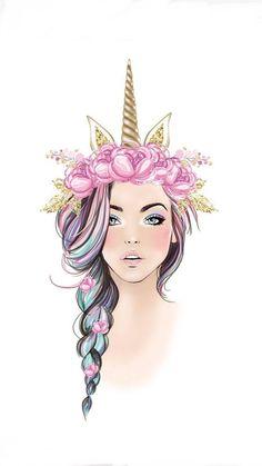 Wallpaper Unicorn Girls 67 Ideas For 2019 Unicorn Drawing, Unicorn Art, Unicorn Sketch, Unicorn Fantasy, Unicorn Nails, Unicorn Wallpaper Cute, Unicornios Wallpaper, Trendy Wallpaper, Art Mignon