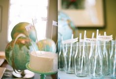 I love the blue straw- easy way to tie in that color without being super in your face a welcome to the world baby shower. for the parents who love to travel Baby Shower Themes, Baby Boy Shower, Shower Ideas, Travel Baby Showers, Baby Love, Bridget's Baby, Gender Neutral Baby, Party Entertainment, Shower Cakes