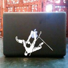 Rock Mountain Climbing Vinyl Decal Sticker © 2013 Laced Up Decals Rock Chic, Glam Rock, Macbook Pro Stickers, Macbook Pro Skin, Mountain Climbing, Rock Climbing, Rock And Roll, Outdoor Life, E Bay