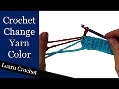 Learn the correct way to change color in crochet. When changing color at the beginning or end of a row you never want to complete the last stitch. Instead yo...
